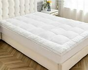 Sunsle Extra Thick Mattress Topper Twin Size Mattress Pads Coverquilted Fitted