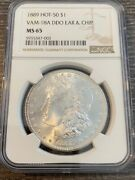 Avc - 1889 Vam-18a Ddo Ear And Chip Morgan Dollar Ngc Ms65 Pop 3/0 Finest Known