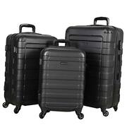 Prime Suitcases Hardside Luggage With Spinner Wheels 3-piece Set Black