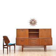 Mid Century Fresco Tall Credenza By G Plan