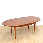 Danish Modern Oval Extending Dining Table By Nathan Furniture