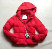 Nwt Women Junior Abercrombie Vintage Down Feather Jacket Outerwear Red Puffer S