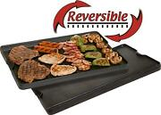 Pre Seasoned Cast Iron 24 Reversible Grill Griddle Combo Double-sided Flat Top