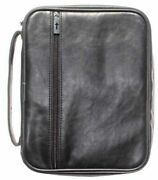 Bible Cover-distressed Leather Look-x Large-black