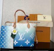 Original Louis Vuitton Never Full By The Pool Blue With Receipts Limited M45678