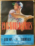 Boston Red Sox St. Louis Cardinals 1946 World Series Program Fenway Ted Williams