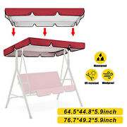 Removable Replacement Canopy Top Cover For Garden Yard 3 Person Swing Awning