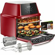 Large Air Fryer Toaster Countertop Oven Rotisserie Dehydrating And Baking