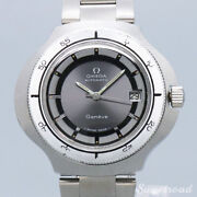 1973 Antique Omega Geneve Ref.166.0122 Date Gray Cobra Automatic Inspected 43mm