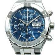 Free Shipping Pre-owned Maurice Lacroix Icon Automatic Chronograph Blue Dial