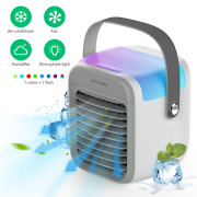 Portable 4 In 1 Air Conditioner Cooler Fan 3 Wind Speed Built-in Battery