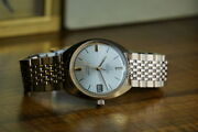 1969-1970 Omega Seamaster 166.023 Cosmic Pggf Crossline Date Silver Automatic