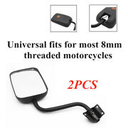 1 Pair Scooter Motorcycle Bikes Rear View Mirror Side Rotation Rearview Glass