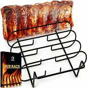Mountain Grillers Rib Rack For Gas Smoker And Charcoal Grill, Hold 5 Racks Of Ribs