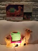 Vintage Empire Christmas Nativity Camel Plastic Lighted Blow Mold 28 With Box
