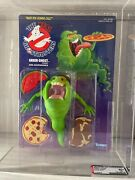 1986 Kenner Real Ghostbusters Green Ghost Slimer Afa Graded 80+ Mint White Text