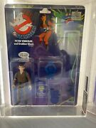 Vintage Real Ghostbusters Peter Venkman 1st Series White Text 1986 Kenner Afa 85