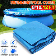 Above Ground Swimming Pool Cover For Summer Round Safety Pe Blue 8 10 12 Ft Us