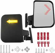 Golf Cart Mirror Universal Golf Cart Side Mirrors With Led Turn Signal Mirrors