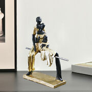 Modern Sculpted Family Figurines Resin Sculpture Home Ornament Furnishings