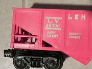 Lionel 6476 Red Lehigh Valley Hopper Car - Double Die / Double-stamp / Blem Rare