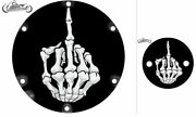 Harley Davidson Sportster Derby And Timing Cover Set Glossy Mf Skull