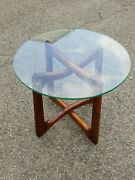 Vintage Adrian Pearsall Mid Century Modern Ribbon End Table