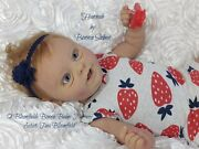 Silicone Full Bodied Baby Doll Hannah By Bonnie Sieben/artist Tina Bloomfield