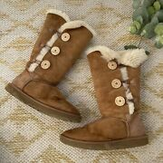 Ugg Chestnut Bailey Button Triplet Boots Womens Size 7