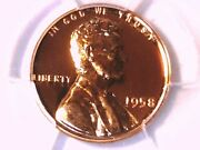 1958 Proof Lincoln Wheat Cent Penny Pcgs Pr 68 Rd 42457762