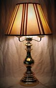 Vintage Brass Table Lamp 4 Bulbs 3 Way Switch. 28 High 7 Base