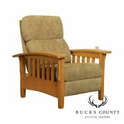 Ethan Allen Mission Style Bow Arm Recliner