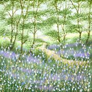Mary Shaw Original Picture Bluebell Woodland