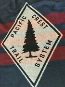 Rare Abercrombie And Fitch X Woolrich Blanket Pct Pacific Crest Trail Wool Blue