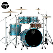 Mapex Saturn Evolution Fusion 4-piece Maple Shell Pack Exotic Azure Burst Lacque