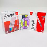 Sharpie Permanent Markers/highlighters Fine Point Black/assorted 36/12 Count