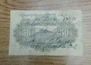 Recovered From Jap Cave On Iwo Jima 1943 Japan 50 Sen Us Intelligence Ink Stamp