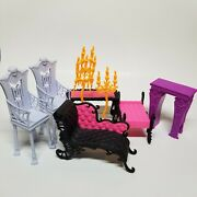 Monster High Accessories Furniture Lot Of 8 Freaky Fusion Catacombs Playset