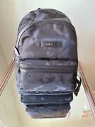 Nwt Mk Unisex Nylon Backpack In Black Camouflage Light Weight