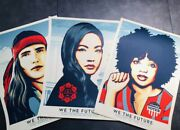 Shepard Fairey Signed And Numbered We The People 18 X 24 Screen Prints, Banksy