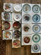 Avon Christmas Plate Series 1975-1993 Missing 1984. Lot Of 18 Plates And Boxes.
