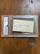 Supreme Court Justice Morrison R. Waite Autograph Signed And Inscribed Card Psa 8