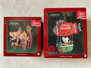 2 Carlton Cards Musical Christmas Ornaments Christmas Is Coming, Merry Musicians