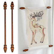 2x Picture Holder Hanging Poles Art Banner Picture Maps Tapestry Hanger Rods