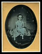 Rare Half Plate Daguerreotype Of A Painting By New York Photographer Prudhomme