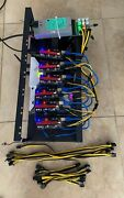 Crypto Mining Rig Kit Wifi No Gpus Open Air Case 6 Slot Psu, Cpu, Ether Coin