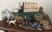 Vintage 1960's Ideal Roy Rogers Chuck Wagon Play Set Toy With Extra Accessories