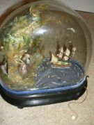 Antique Frenchmusical Automata Under Glass Dome.