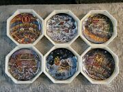 Full Set Of 6 Franklin Mint Mcdonald's Collector Plates By Bill Bell - 1994