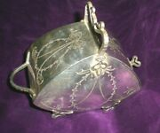 J D And S Silver Plated Sugar Scuttle / Rare Shape 8647 / Ca. 1900